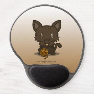 Kawaii Kitty (Brown Striped) Gel Mousepad