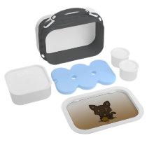 Kawaii Kitty (Brown Striped) Lunch Box