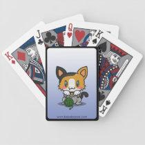 Kawaii Kitty (Calico) Bicycle Playing Cards