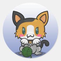 Kawaii Kitty (Calico) Sticker Sheet
