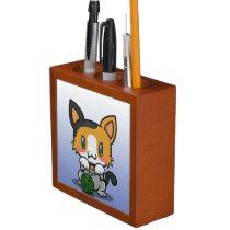 Kawaii Kitty (Calico) Desk Organizer