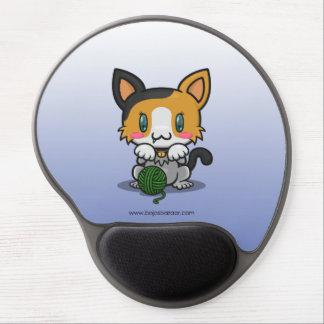 Kawaii Kitty (Calico) Gel Mouse Mats