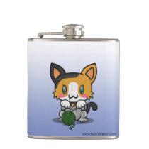 Kawaii Kitty (Calico) Flask