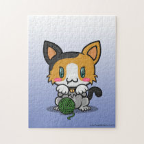 Kawaii Kitty (Calico) Jigsaw Puzzle
