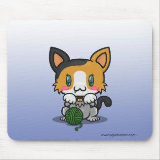 Kawaii Kitty (Calico) Mouse Pad