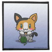 Kawaii Kitty (Calico) Napkins (4x)