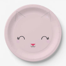 kawaii kitty CAT BIRTHDAY party plate PINK