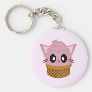 kawaii kitty cone ice cream cat meow keychain