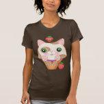 Kawaii Kitty Cupcake & Strawberries T-Shirt