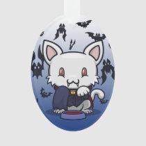 Kawaii Kitty (Dracula) Oval Acrylic Ornament