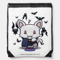 Kawaii Kitty (Dracula) Drawstring Backpack