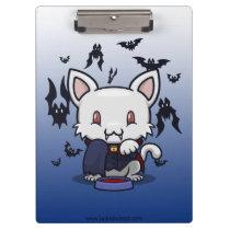 Kawaii Kitty (Dracula) Clipboard