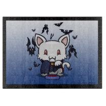 Kawaii Kitty (Dracula) Cutting Board