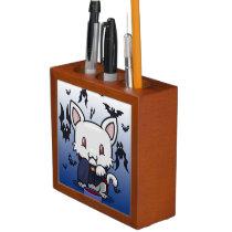 Kawaii Kitty (Dracula) Desk Organizer