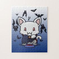 Kawaii Kitty (Dracula) Jigsaw Puzzle