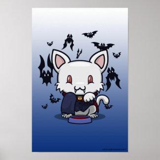 Kawaii Kitty (Dracula) Poster