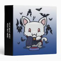 "Kawaii Kitty (Dracula) 1.5"" Binder"