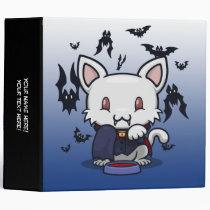 "Kawaii Kitty (Dracula) 2"" Binder"