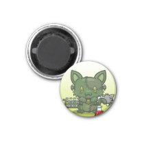 Kawaii Kitty (Frankenstein's Monster) Magnet