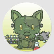 Kawaii Kitty (Frankenstein's Monster) Sticker Sheet