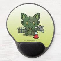 Kawaii Kitty (Frankenstein's Monster) Gel Mousepad