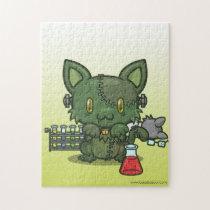 Kawaii Kitty (Frankenstein's Monster) Jigsaw Puzzle