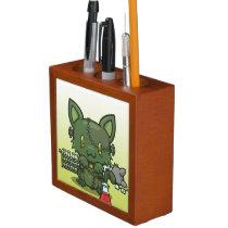 Kawaii Kitty (Frankenstein's Monster) Desk Organizer