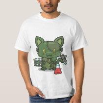 Kawaii Kitty (Frankenstein's Monster) T-Shirt