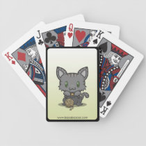 Kawaii Kitty (Gray Striped) Bicycle Playing Cards