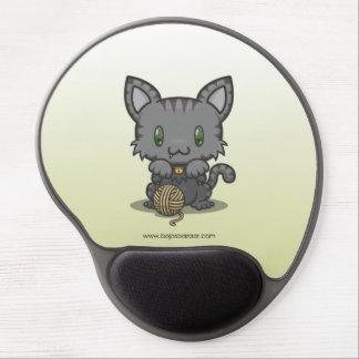 Kawaii Kitty (Gray Striped) Gel Mousepad