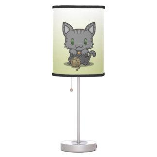 Kawaii Kitty (Gray Striped) Table Lamp