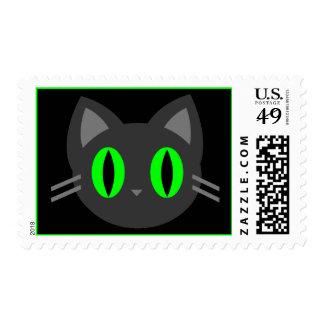 Kawaii Kitty Halloween Stamp