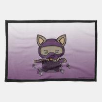 Kawaii Kitty (Kunoichi) Kitchen Towels (3x)