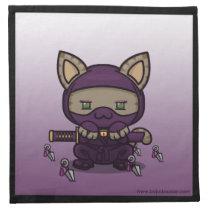 Kawaii Kitty (Kunoichi) Napkins (4x)