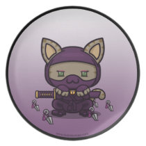Kawaii Kitty (Kunoichi) Plate