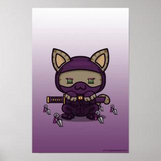 Kawaii Kitty (Kunoichi) Poster