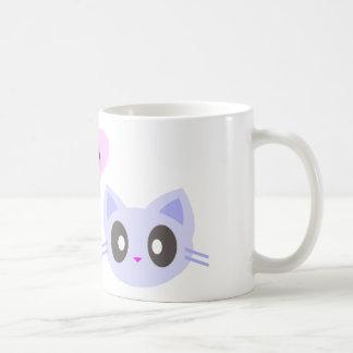 kawaii kitty love coffee mug