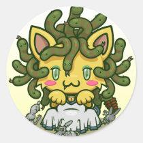 Kawaii Kitty (Medusa) Sticker Sheet