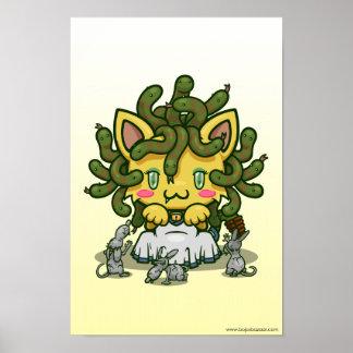 Kawaii Kitty (Medusa) Poster