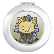 Kawaii Kitty (Mummy) Compact Mirror