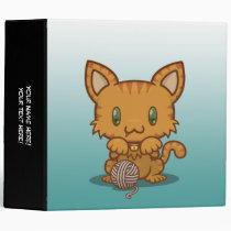 "Kawaii Kitty (Orange Striped) 2"" Binder"