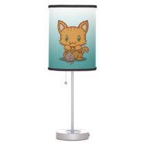 Kawaii Kitty (Orange Striped) Table Lamp