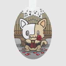Kawaii Kitty (Phantom of the Opera) Oval Acrylic Ornament