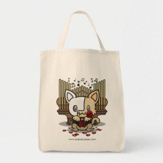Kawaii Kitty (Phantom of the Opera) Grocery Tote Bag