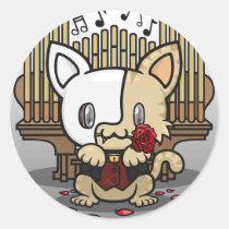 Kawaii Kitty (Phantom of the Opera) Sticker Sheet