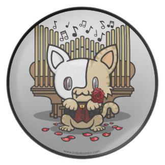 Kawaii Kitty (Phantom of the Opera) Party Plates