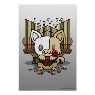 Kawaii Kitty (Phantom of the Opera) Poster