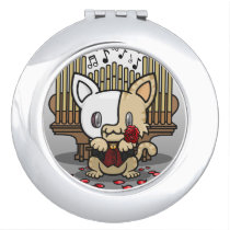 Kawaii Kitty (Phantom of the Opera) Compact Mirror