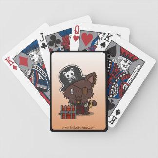 Kawaii Kitty (Pirate) Bicycle Playing Cards