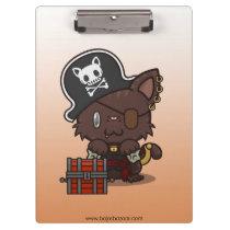 Kawaii Kitty (Pirate) Clipboard